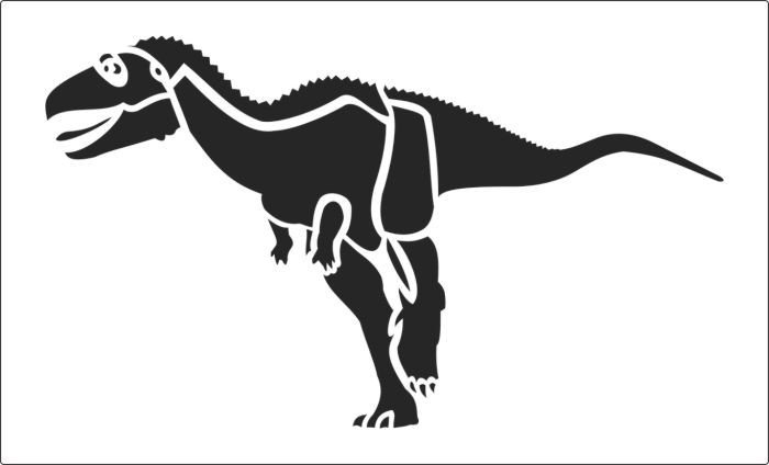 Dinosaur Pumpkin Carving Pattern This Great Dinosaur Stencil is Availbale to Online now