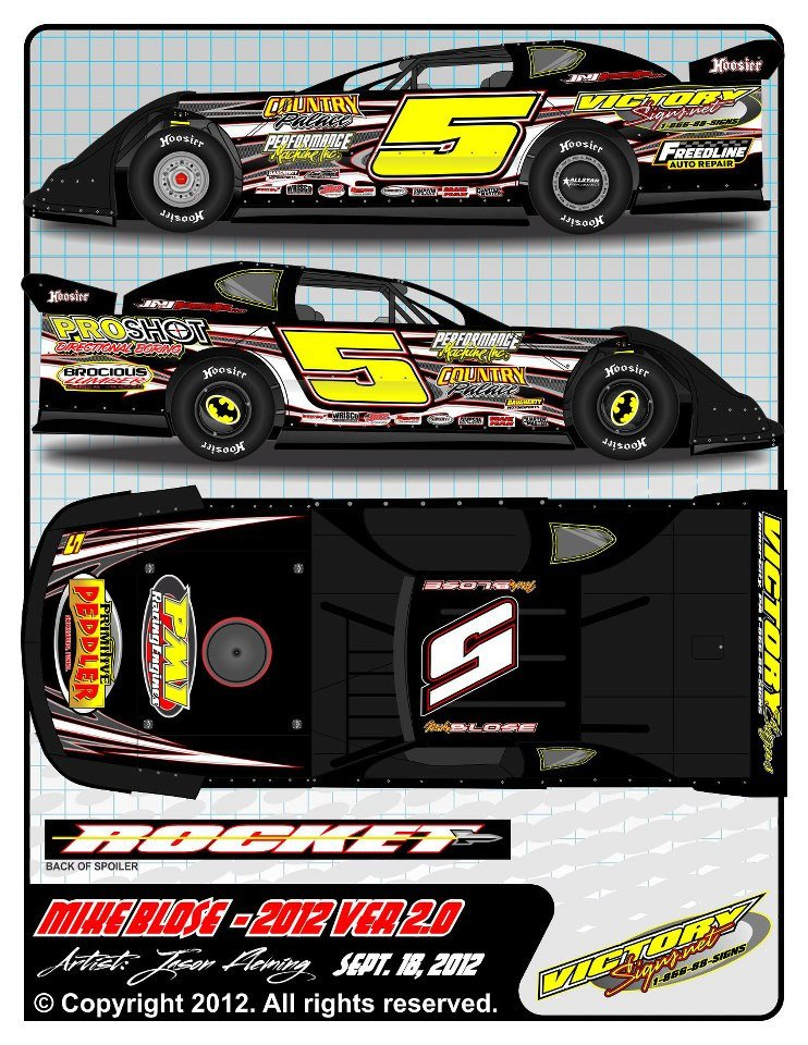 Dirt Late Model Body Template 2012 Mike Blose Dirt Late Model Wrap 2 by 54warrior On