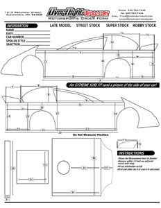 Dirt Late Model Body Template Overnight Wraps Motorsports Industry How to order