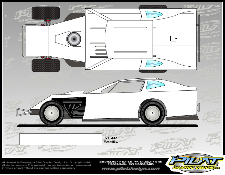 Dirt Late Model Body Template Resources