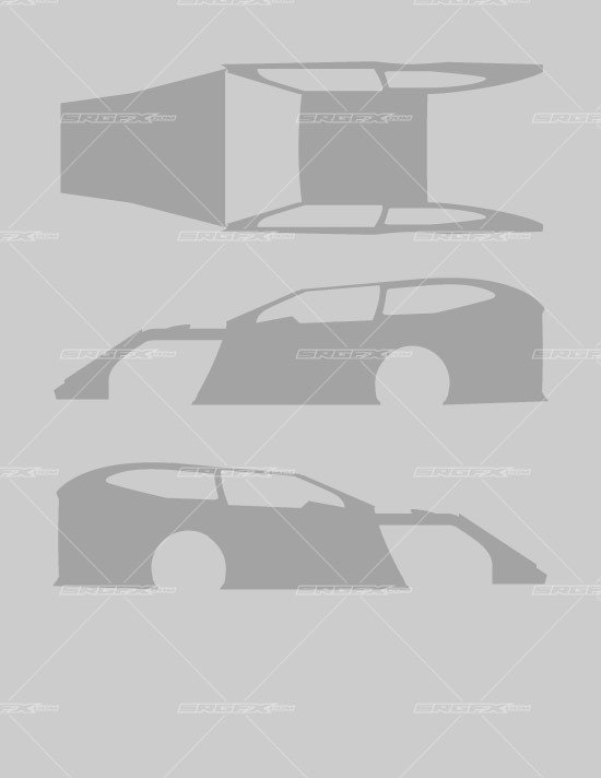 Dirt Late Model Body Template Wrap Designs Professionally with the Srgfx Dirt Late Model