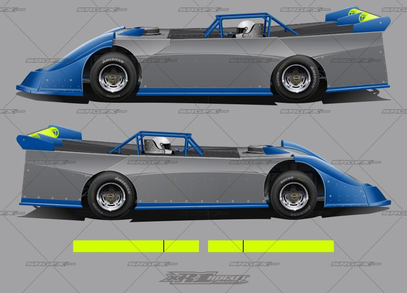 Dirt Late Model Body Template Xr1 Rocket Chassis Dirt Late Model Template