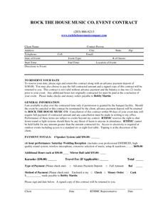 Disc Jockey Contracts Template Free and Printable Disc Jockey Contract form Rc123