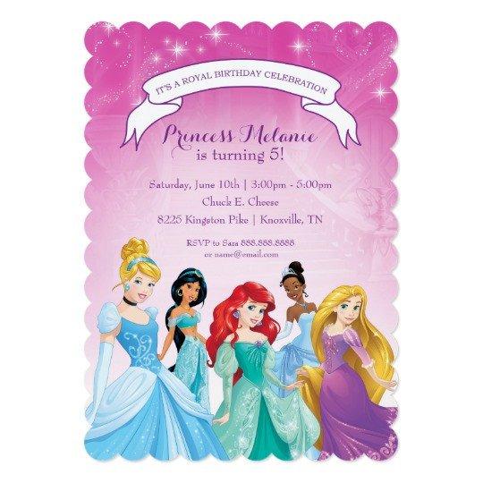 Disney Princess Invitation Template Disney Princess Birthday Invitation