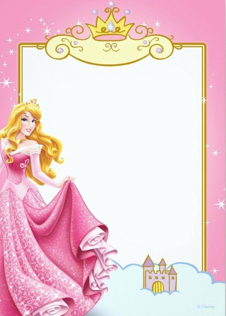 Disney Princess Invitation Template Printable Princess Invitation Card Invitatio