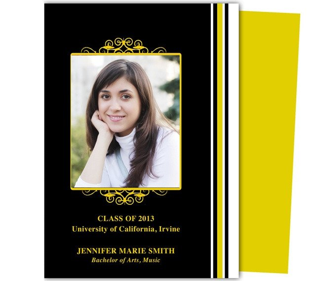 Diy Graduation Announcements Templates Free Diy Graduation Announcements Templates