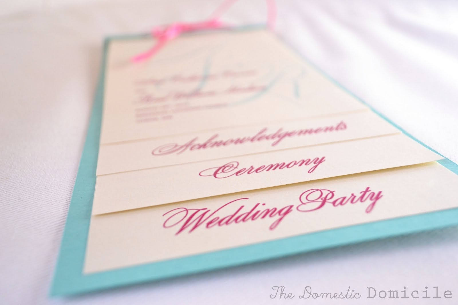 Diy Wedding Program Template Diy Wedding Revisited Program Templates the Domestic
