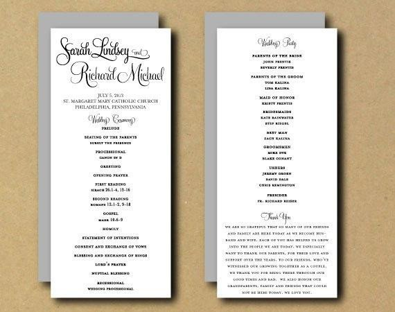 Diy Wedding Program Template Sale Printable Wedding Program Template Whimsical