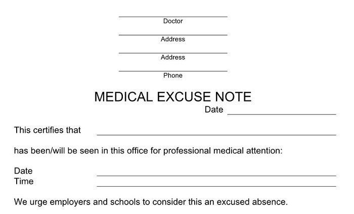 Doctors Note for School Template Download Our Free Doctor Note Templates & Examples if You