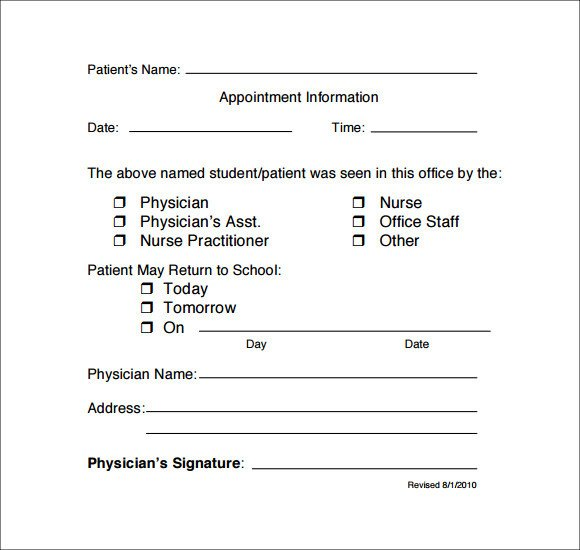 Doctors Note for School Template Free 33 Doctors Note Samples In Google Docs Pdf