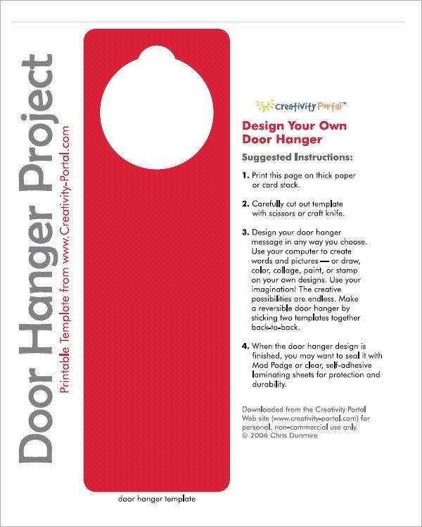 Door Hanger Templates for Word 15 Door Hangers Psd Vector Eps Pdf