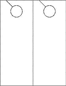 Door Hanger Templates for Word Printable Door Hangers