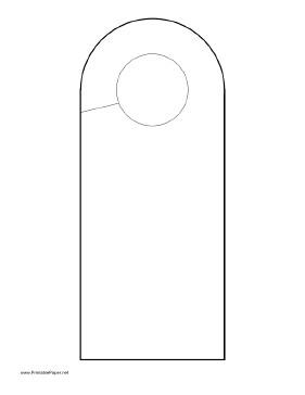 Door Hanger Templates for Word Printable Rounded Doorhanger