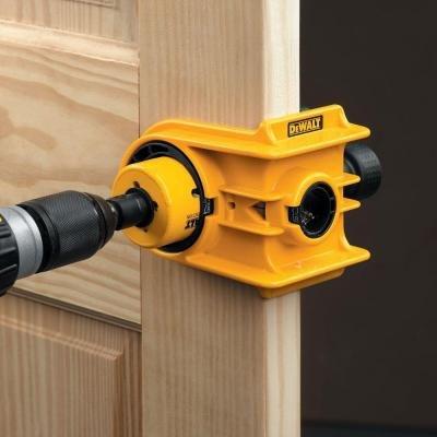 Door Knob Drill Template Dewalt Door Knob Lock Install Holesaw Bi Metal Wood Drill