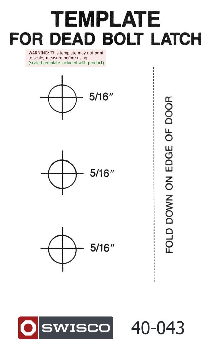 Door Knob Drill Template How to Install the 40 043 Sears Handle Set Swisco