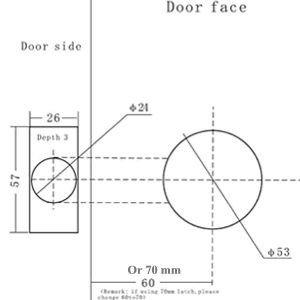 Door Knob Drill Template Template for Door Knob Hole