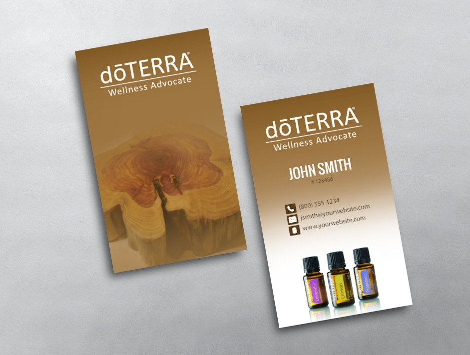 Doterra Business Card Template Doterra Business Card 12