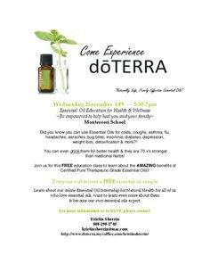 Doterra Class Flyer Template Doterra Essential Oils Doterra and Flyers On Pinterest