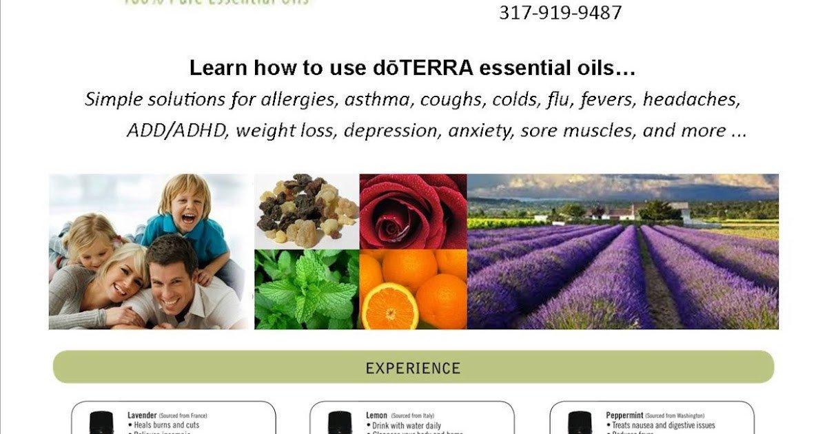 Doterra Class Flyer Template Essential Sunshine My First Doterra Essential Oils Class