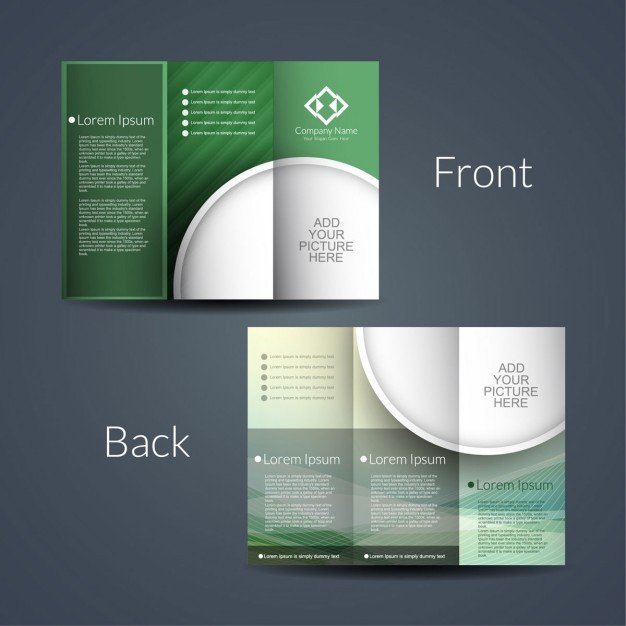 Double sided brochure Vector