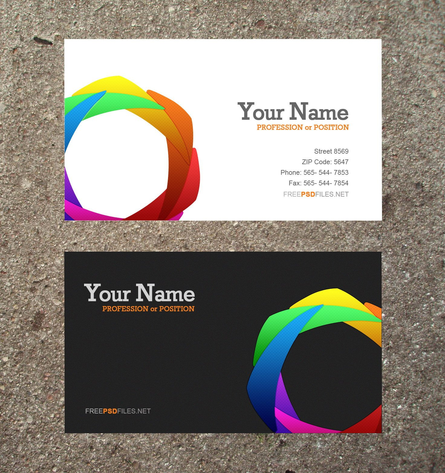 10 Modern Business Card PSD Template Free Free