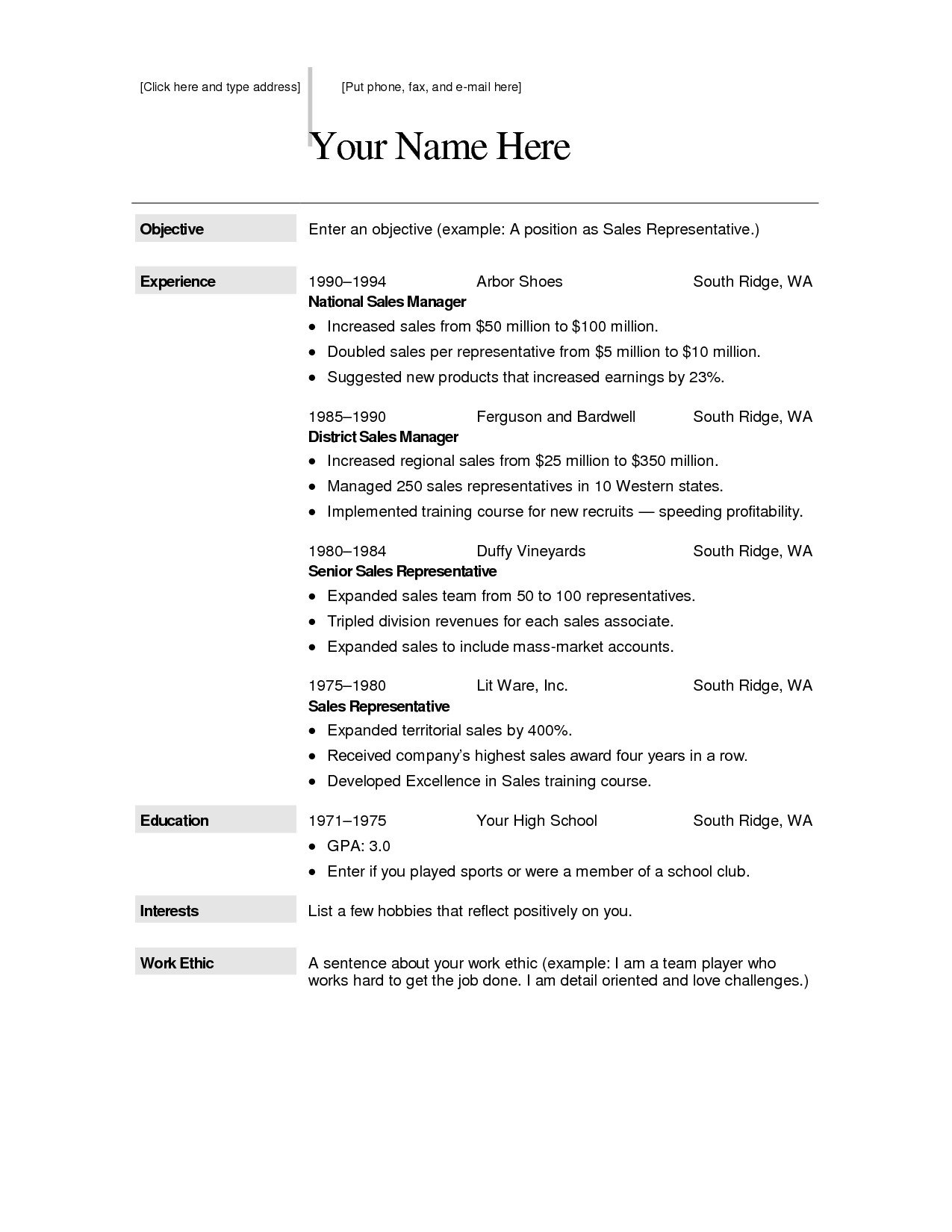 Downloadable Free Resume Templates Free Downloadable Resume Templates