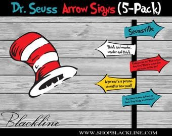 Dr Seuss Arrows Free Printables Dr Seuss Banner
