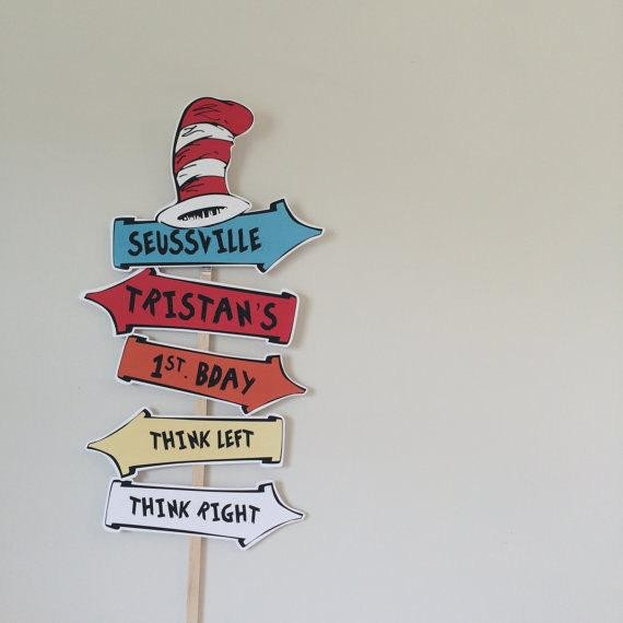 Dr Seuss Arrows Free Printables Personalized Dr Seuss Arrow Sign by Partypopprints On Etsy