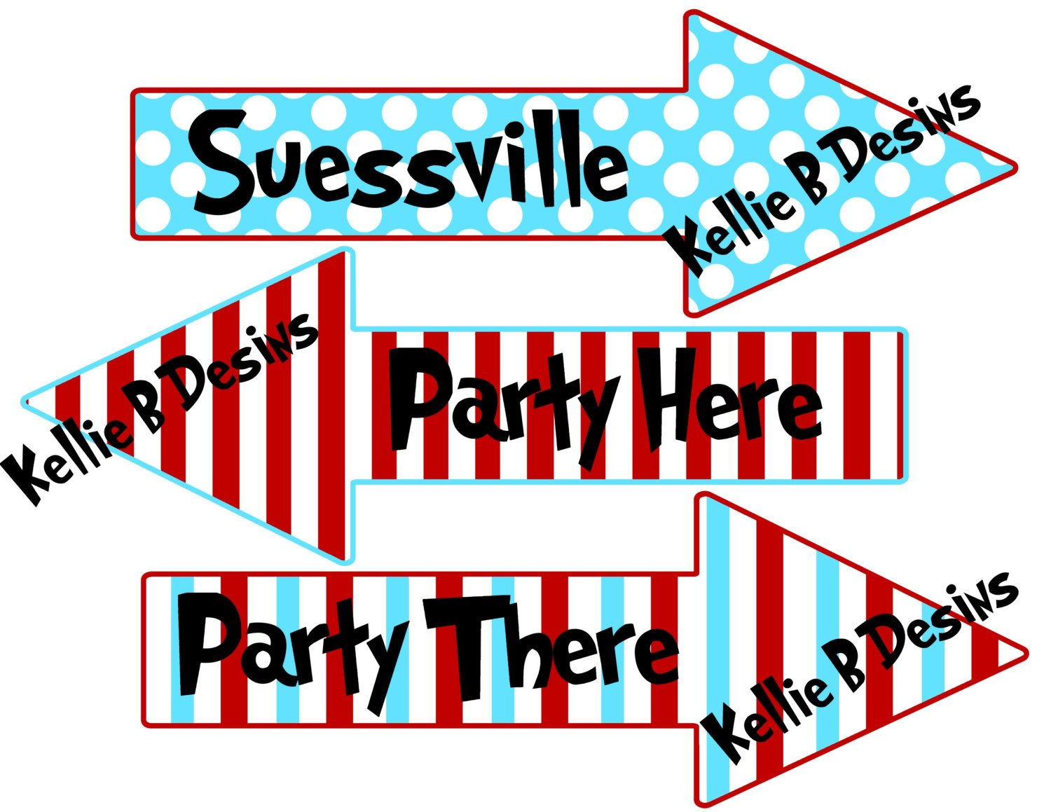 Dr Seuss Arrows Free Printables Printable Dr Suess the Cat In the Hat Arrow Birthday Signs