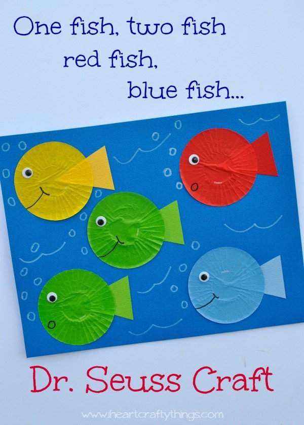 Dr Seuss Fish Template 31 Days Of Read Alouds E Fish Two Fish Red Fish Blue
