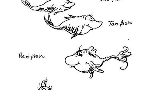 Dr Seuss Fish Template Dr Seuss E Fish Two Fish Coloring Pages Coloring Pages