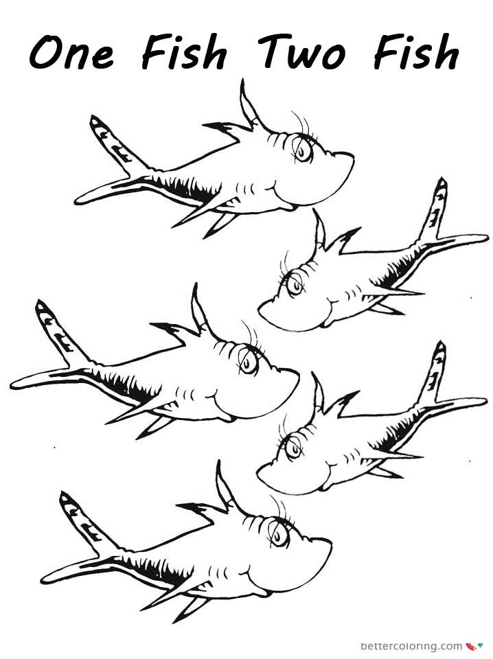 Dr Seuss Fish Template Dr Seuss E Fish Two Fish Coloring Pages Fishes for Kids