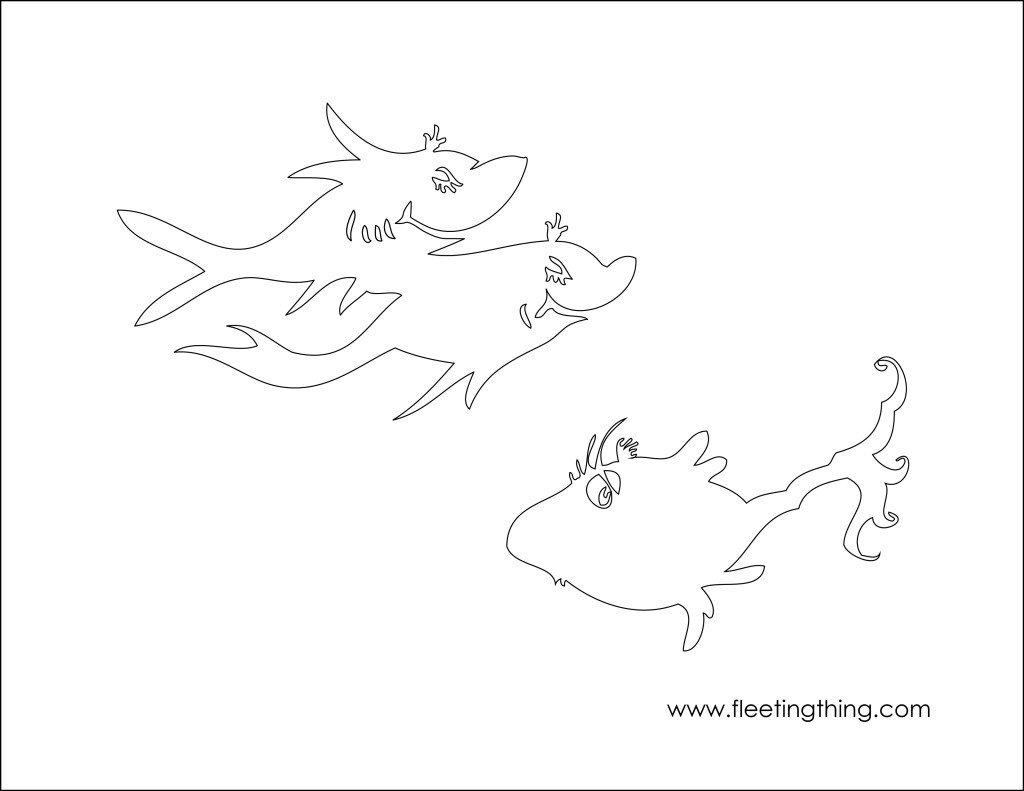 Dr Seuss Fish Template E Fish Two Fish Coloring Pages Az Coloring Pages