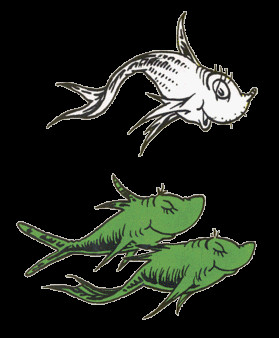 Dr Seuss Fish Template E Fish Two Fish Red Fish Blue Fish
