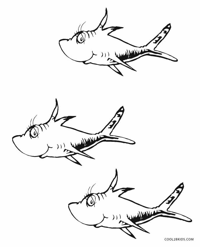 Dr Seuss Fish Template Free Printable Dr Seuss Coloring Pages for Kids