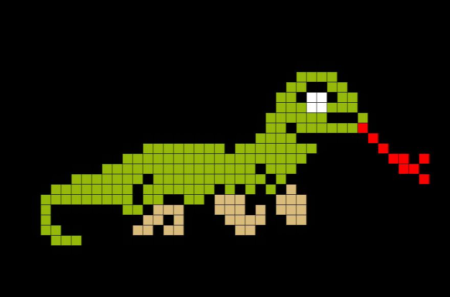 Dragon Pixel Art Grid Komodo Dragon Pixel Art – Brik