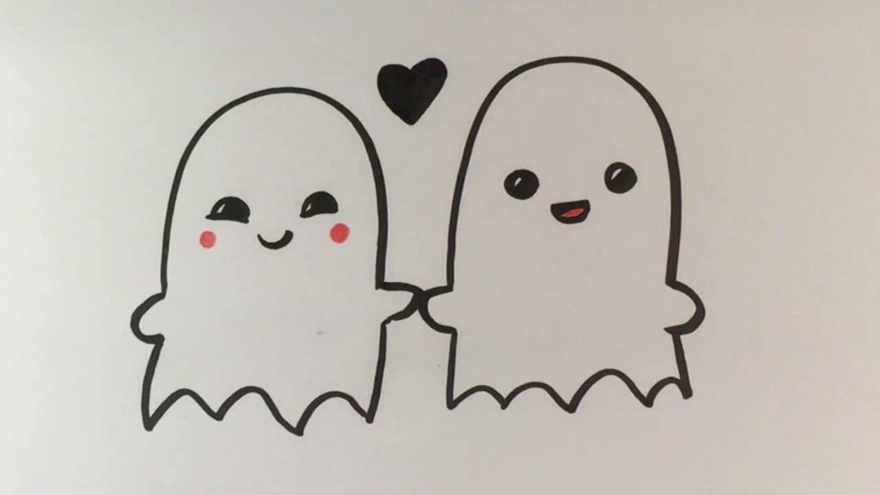 Drawing Pictures Of Love How to Draw Ghosts In Love Cute Halloween Drawings