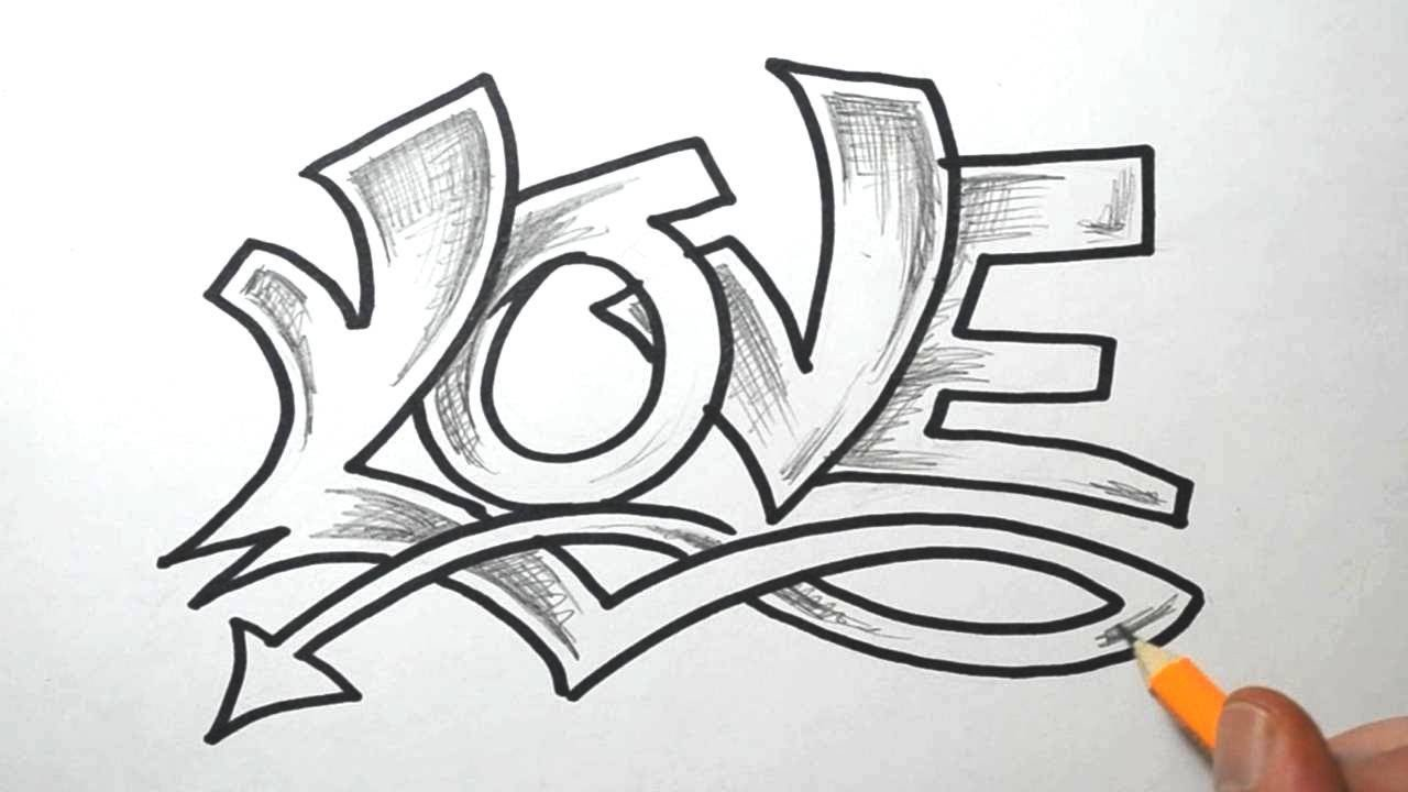 Drawing Pictures Of Love How to Draw Love In Graffiti Lettering