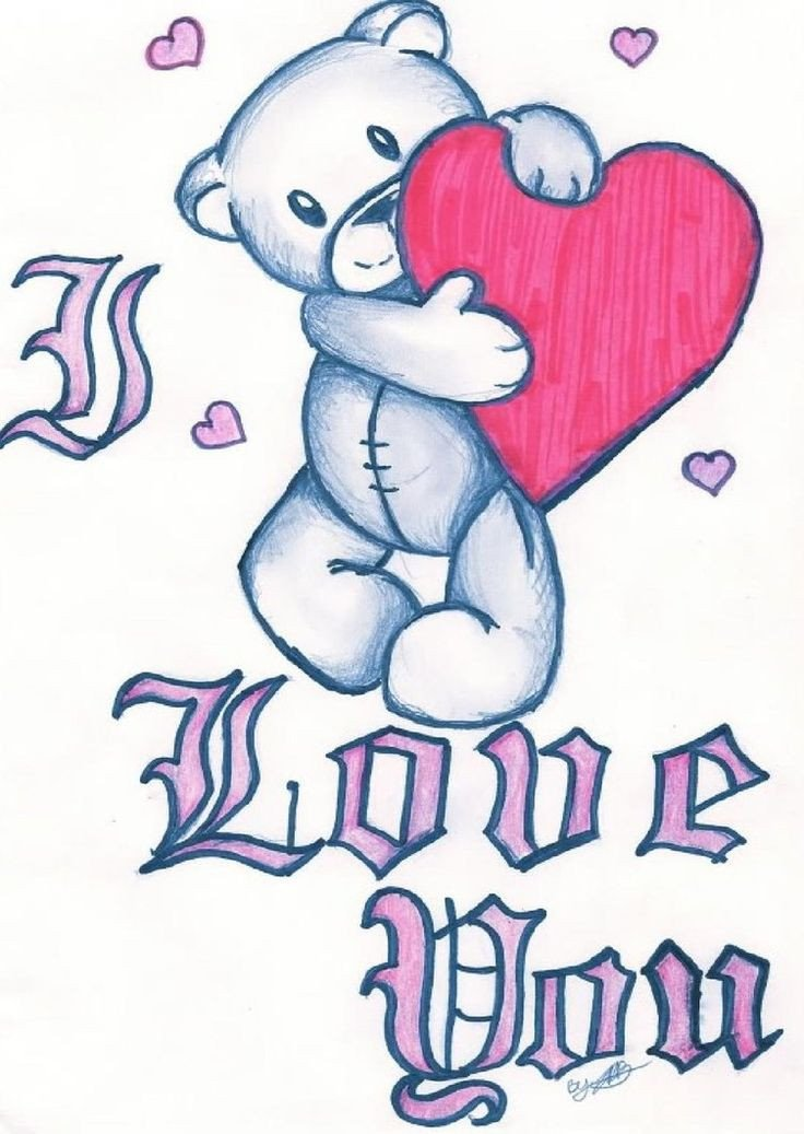 Drawing Pictures Of Love I Love You Clip Art Love You by Jazzy Girl21