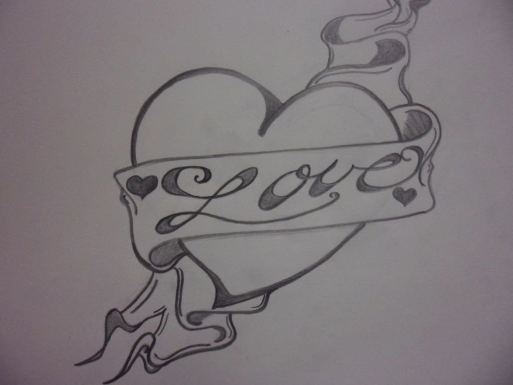 Drawing Pictures Of Love Love Heart Drawings Love Heart Drawing