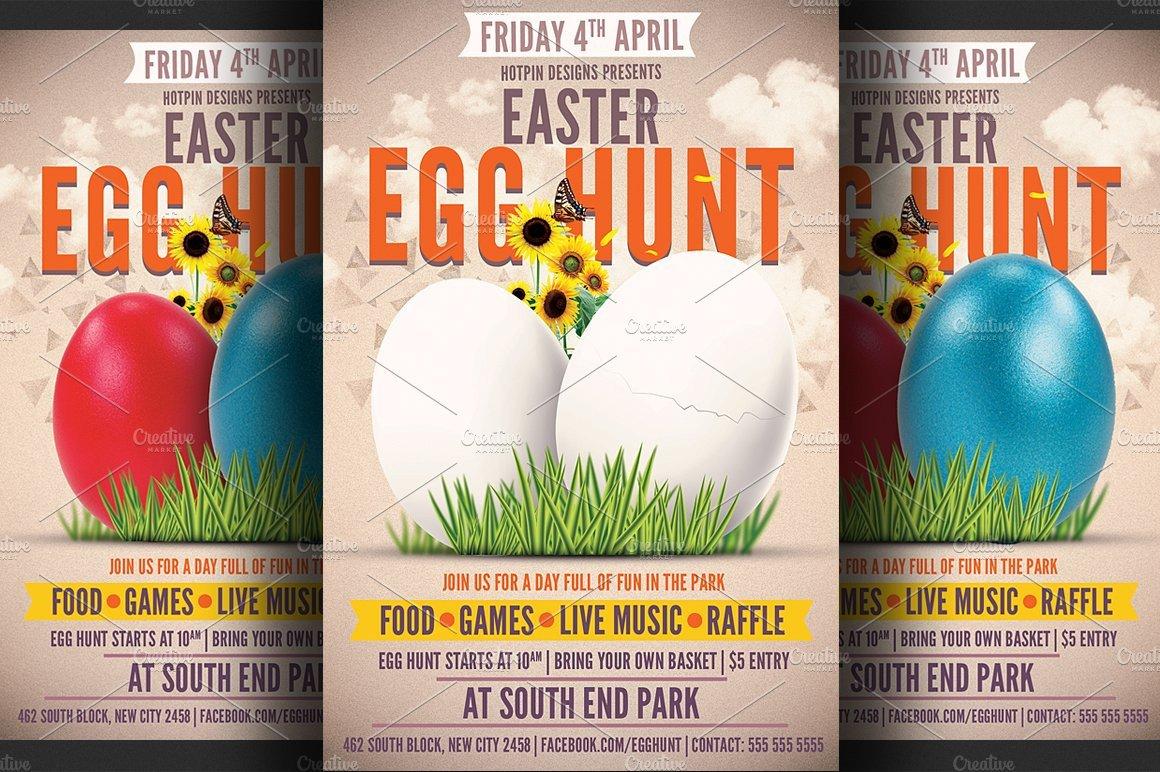Easter Egg Hunt Flyer Template Flyer Templates