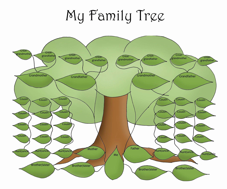 Free Editable Family Tree Template Daily Roabox