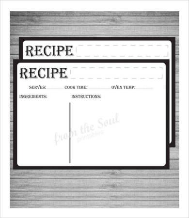 Editable Recipe Card Template Recipe Card Template 10 Free Pdf Download