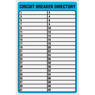 Electrical Panel Labels Template Printable Circuit Breaker Panel Labels