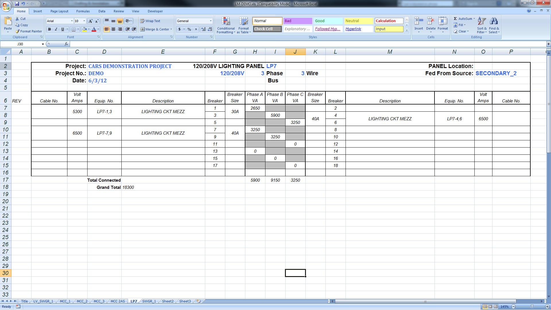 Export Panel Schedules to Excel – BIMarabia