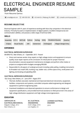 Electrician Resume Template Microsoft Word Electrical Engineer Cover Letter Example