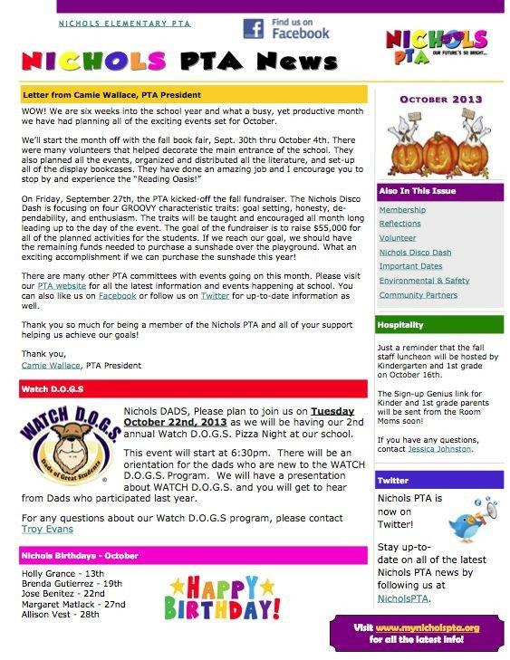 Elementary School Newsletter Template 24 Best Pto Newsletter Images On Pinterest