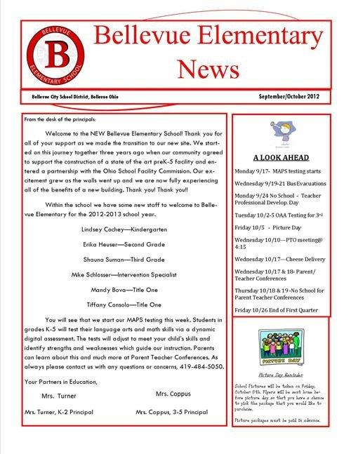 Elementary School Newsletter Template Elementary School Newsletter Templates to Pin On