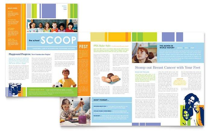 Elementary School Newsletter Template Learning Center & Elementary School Newsletter Template Design