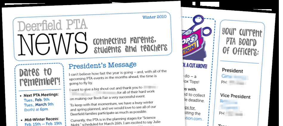 Elementary School Newsletter Template Personal